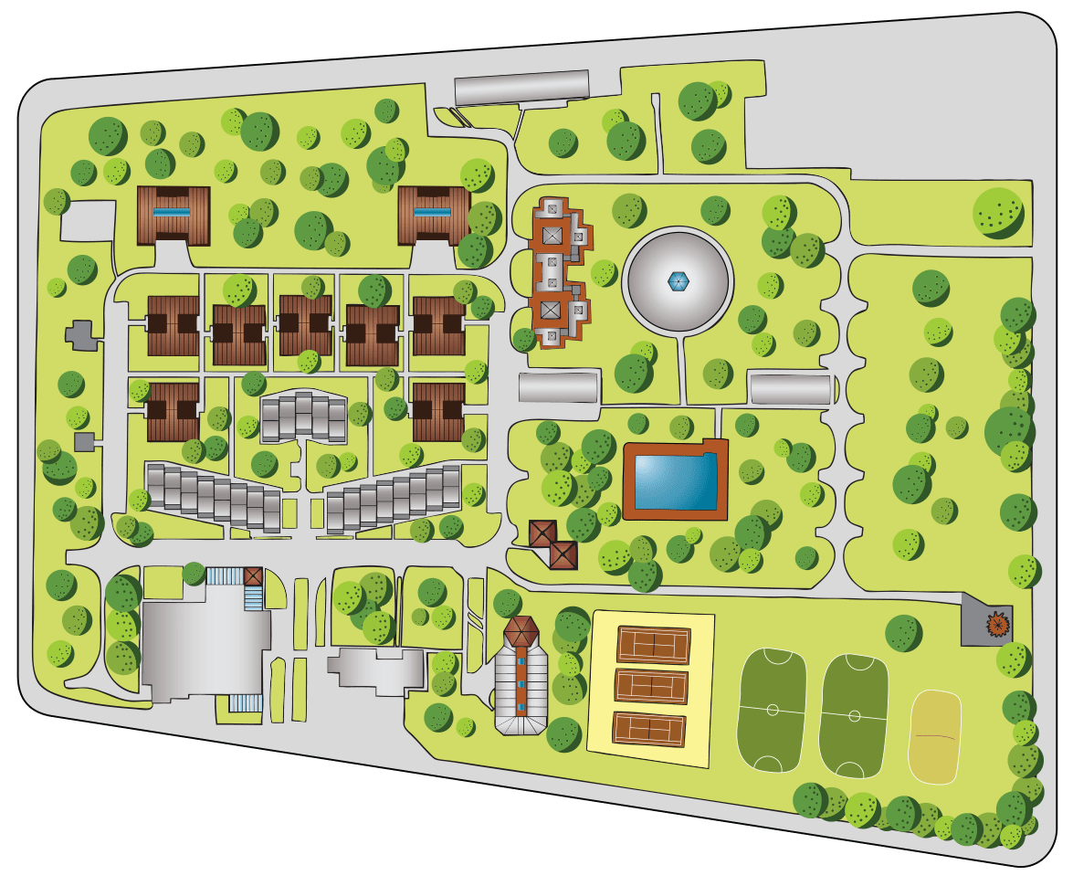 Szarvas Camp map